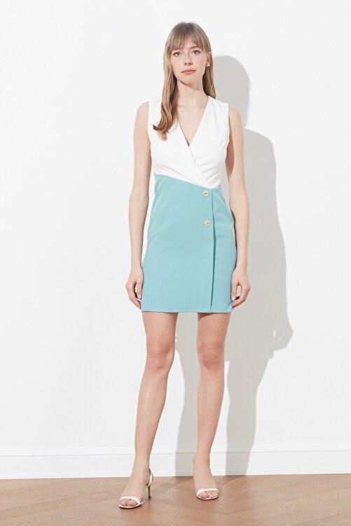 TRENDYOLMİLLA Mint Renk Bloklu Elbise TWOSS20EL0410 2