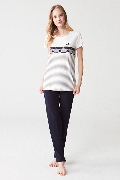Mod Collection Kadın Ekru Pijama Takımı 1
