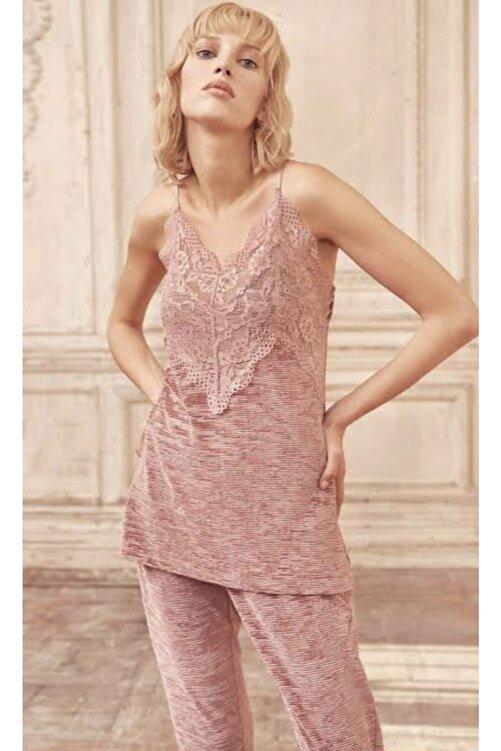 Miss Loren Kadife Pijama Takımı 3 Lü 2