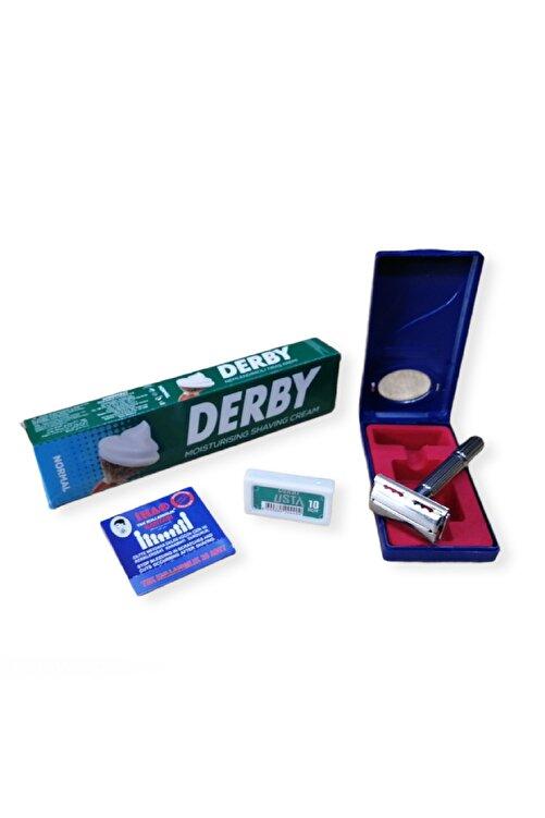 Tima Derby Tıraş Seti Kullan At Kan Taşı Ve Derby 10 Lu Jilet 1
