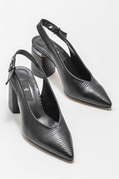 Elle Shoes Kadın Siyah Topuklu Ayakkabı 2