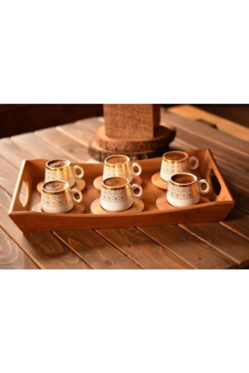 Bambum B0174 Ottoman - 6 Kişilik Kahve Fincan Takımı Seti Altın Desenli 1