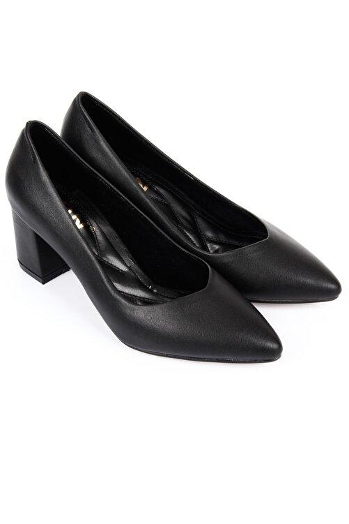 GÖNDERİ(R) Siyah Kadın Klasik Topuklu Ayakkabı 38918 2
