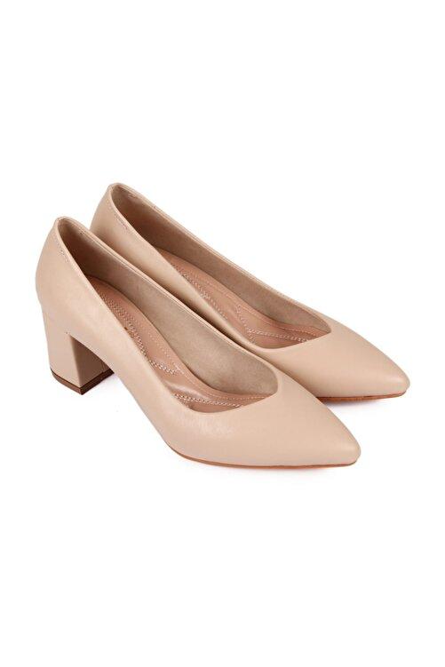 GÖNDERİ(R) Krem Kadın Klasik Topuklu Ayakkabı 38918 2