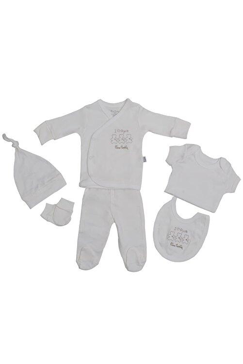Pierre Cardin Baby Pierre Cardin Organik Yenidoğan Takımlı Bebek Seti Ekru 1