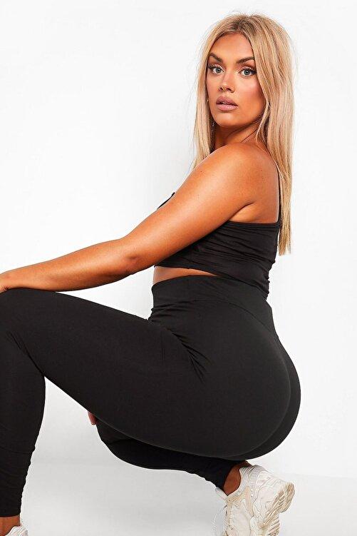brand no:10 Kadın Siyah Çelik Örme Sıkılaştırıcı ve Toparlayıcı Büyük Beden Korse Tayt 2