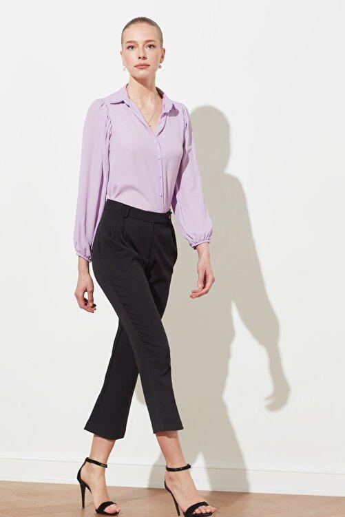 TRENDYOLMİLLA Siyah  Kemer Detaylı Havuç Pantolon TWOSS21PL0023 1
