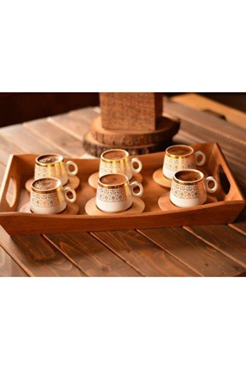 Bambum B0174 Ottoman - 6 Kişilik Kahve Fincan Takımı Seti Altın Desenli 2