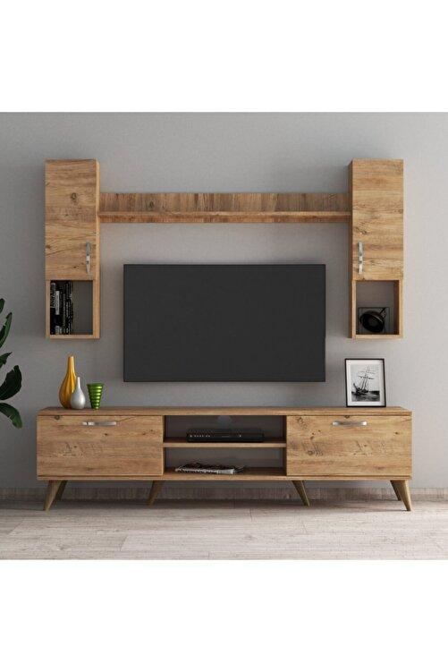 Tanmob Mega 180 Lik Kapaklı Raflı Tv Ünitesi Çam - Tvu0202 2