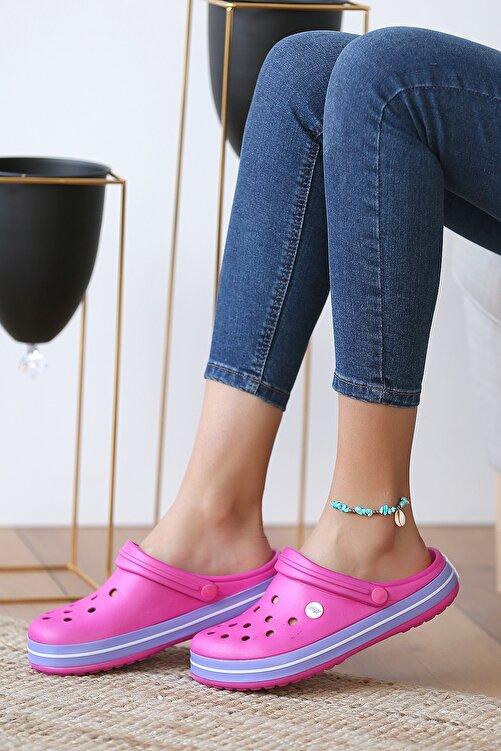 Pembe Potin Unisex Fusya Lila Sandalet 2