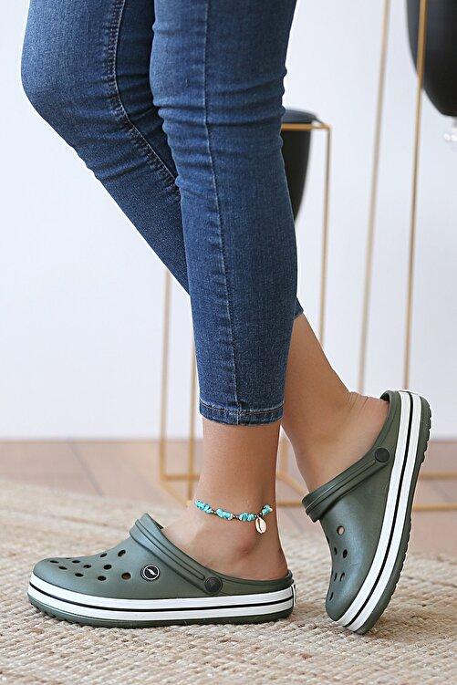 Pembe Potin Unisex Haki Sandalet 1