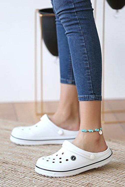 Pembe Potin Unisex Beyaz Sandalet 2