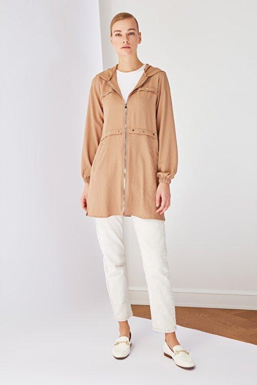 Trendyol Modest Taş Fermuarlı Tesettür Ceket TCTSS21CE0378 1