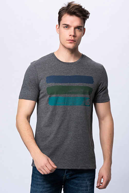 New Balance Erkek T-shirt - 3 Brush TEE - V-MTT903-CHC 1