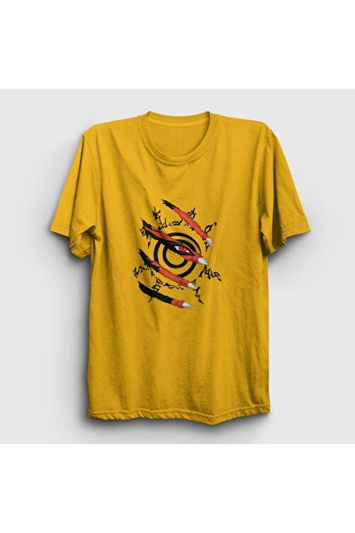 Presmono Unisex Sarı Kyuubi Anime Naruto T-shirt 133710tt 1