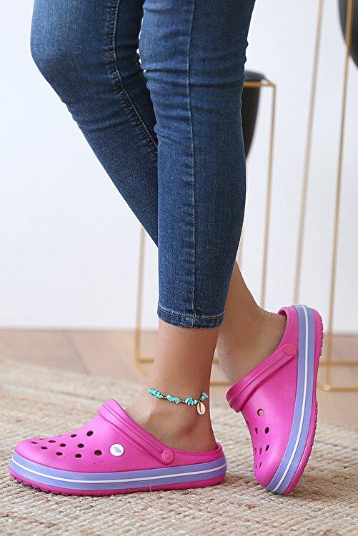 Pembe Potin Unisex Fusya Lila Sandalet 1