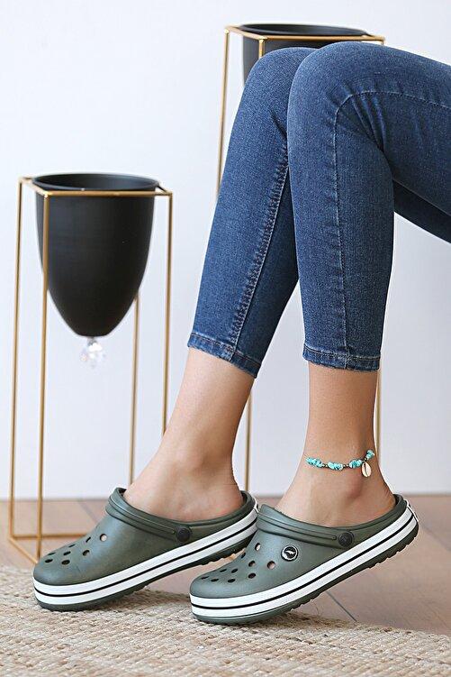 Pembe Potin Unisex Haki Sandalet 2