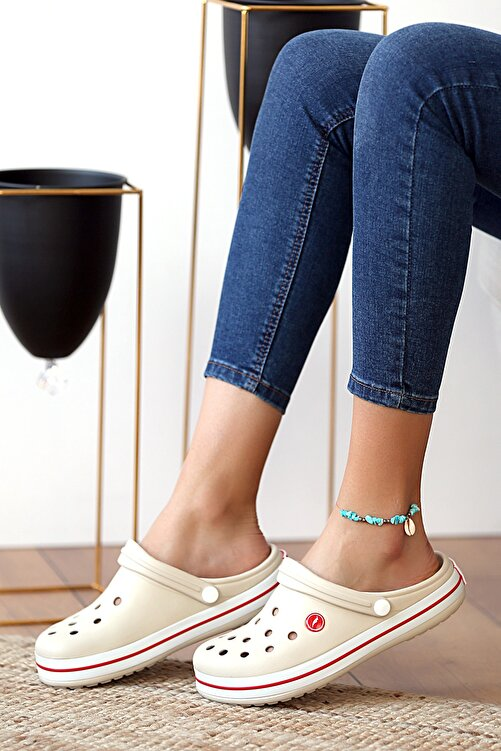Pembe Potin Unisex Krem Sandalet 1