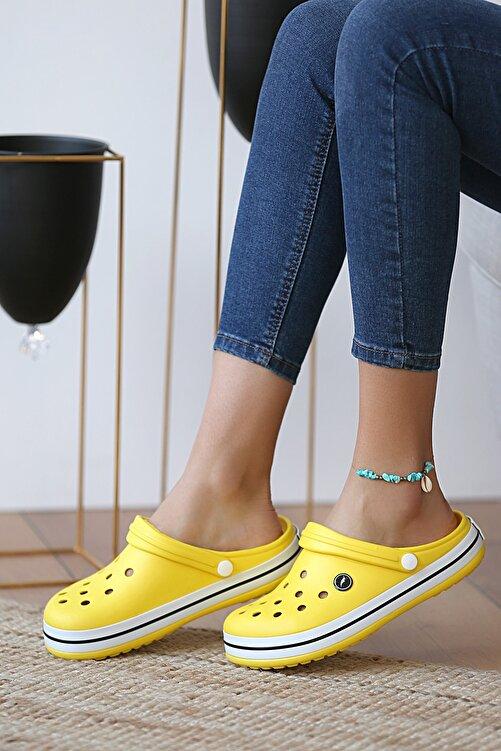 Pembe Potin Unisex Sarı Sandalet 2