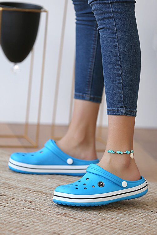 Pembe Potin Unisex Mavi Sandalet 1