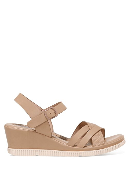 İnci ACOREDDA 1FX Camel Kadın Dolgu Topuklu Sandalet 101027281 1