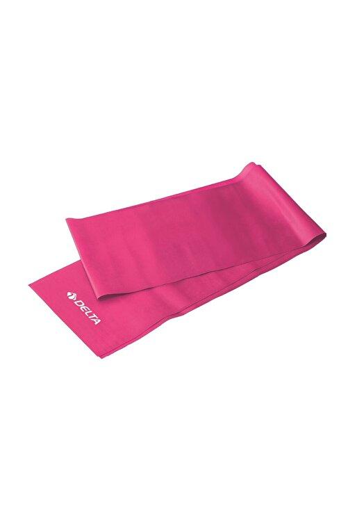 Delta Pembe Pilates Bandı Orta Sert Egzersiz Direnç Lastiği 150 x 15 cm 1