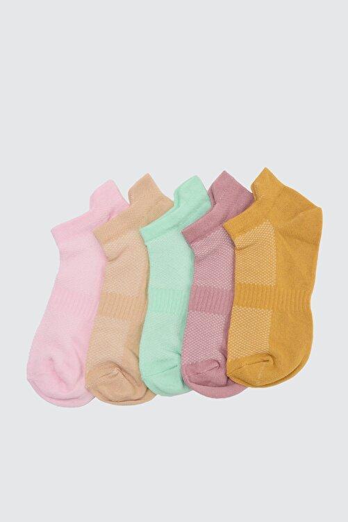 TRENDYOLMİLLA Hardal Spor Çorap TWOAW20CO0011 1