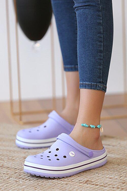 Pembe Potin Unisex Lila Sandalet 1