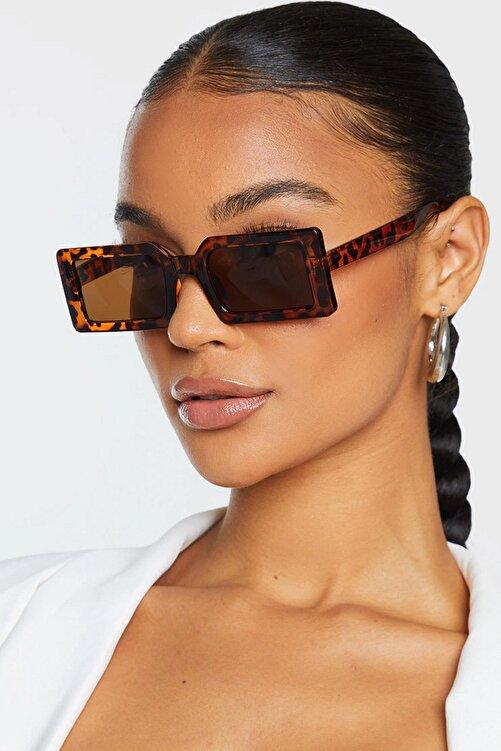 Hane14 Kadın Güneş Gözlüğü Leopar 1