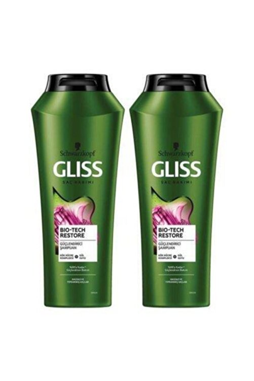 Gliss Şampuan 500ml Biotech+500ml Şampuan 1