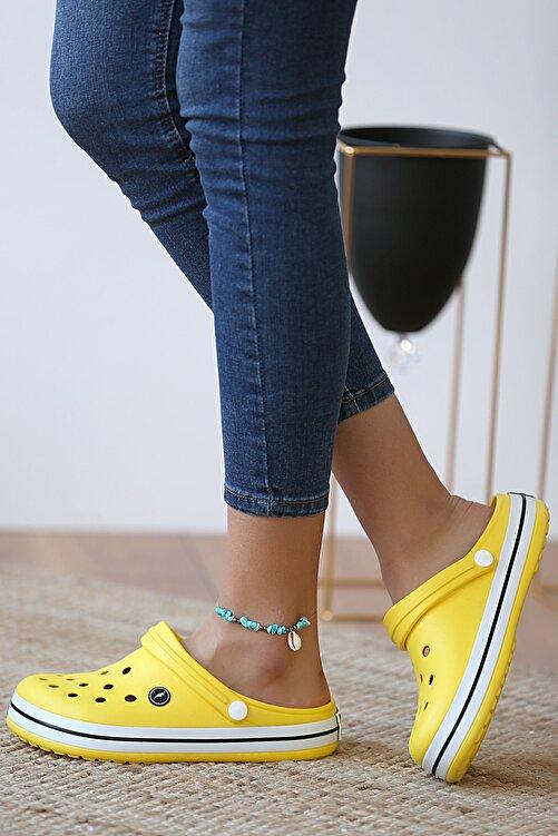 Pembe Potin Unisex Sarı Sandalet 1