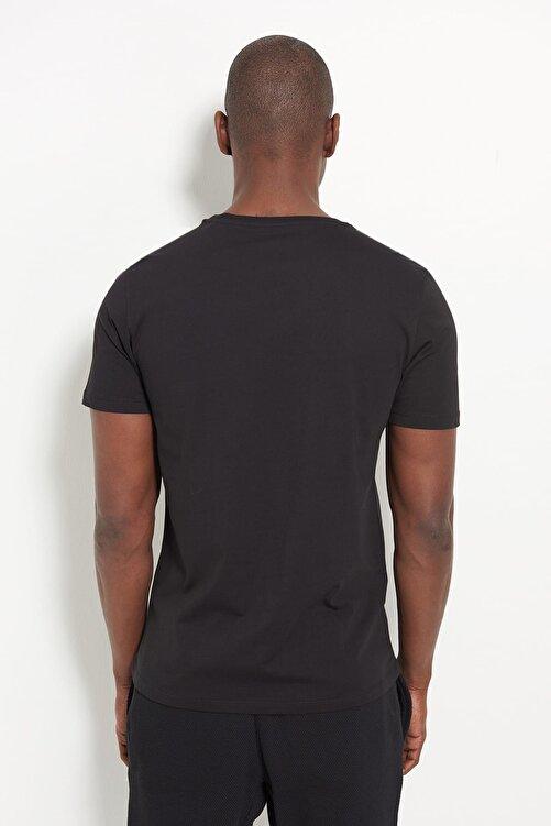New Balance Erkek T-Shirt - NB Wolf Tee - V-MTT902-BK 2