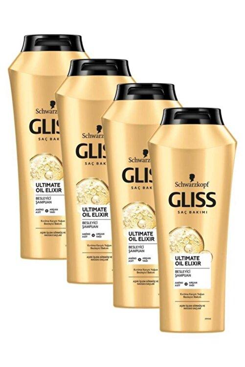 Gliss Ultimate Oil Elixir Besleyici Şampuan 500 ml 4'lü 1