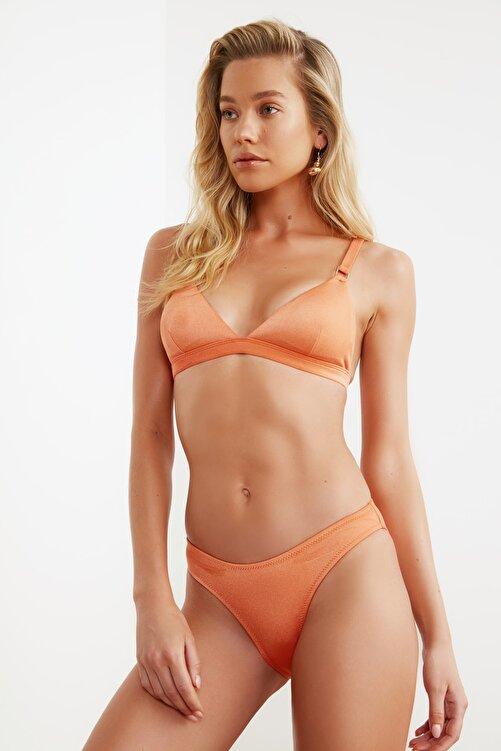 TRENDYOLMİLLA Turuncu Parlak  Bikini Altı TBESS21BA0144 1