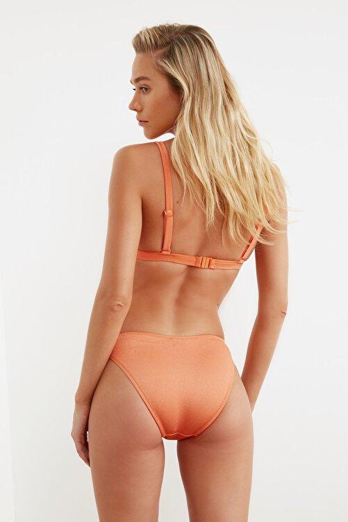 TRENDYOLMİLLA Turuncu Parlak  Bikini Altı TBESS21BA0144 2