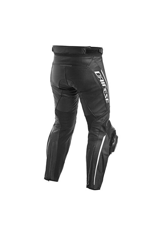 Dainese Delta 3 Deri Motosiklet Pantolonu Black Black White 2
