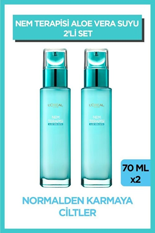 L'Oreal Paris Nem Terapisi Aloe Vera Suyu Normalden Karmaya Ciltler için 2'li Set 1