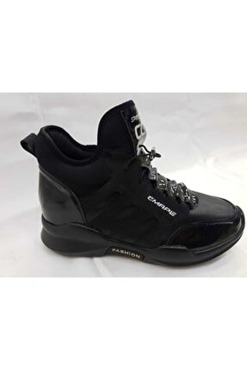 Guja Kadın Siyah Deri Spor Bot Ayakkabı 1