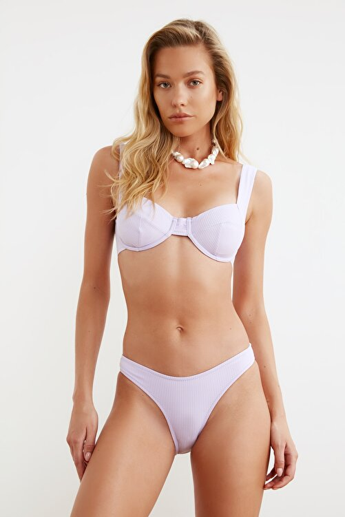 TRENDYOLMİLLA Lila Dokulu Bikini Altı TBESS21BA0014 2