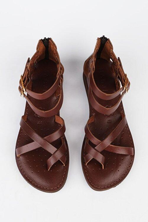 Marjin Kadın Kahve Hakiki Deri Parmak Arası Sandalet Zelos 2