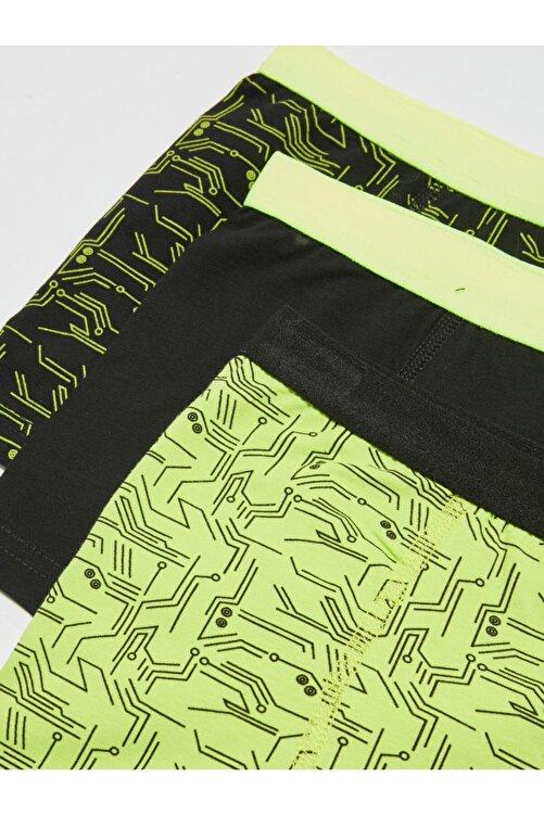 LC Waikiki Erkek Yeşil Boxer 3'lü 2