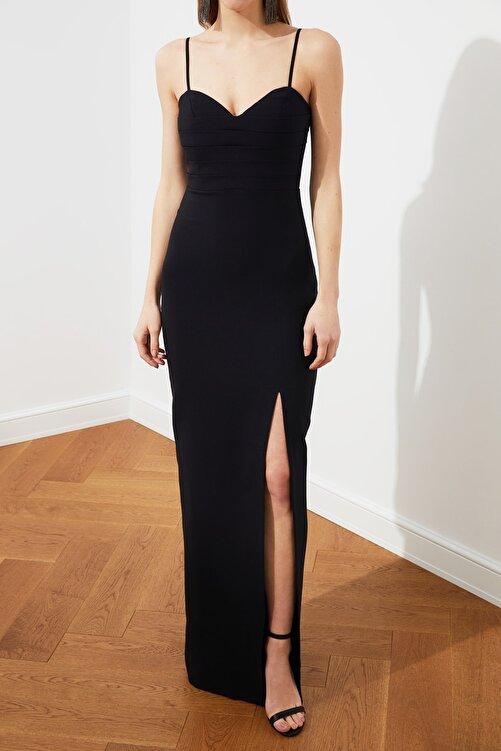 TRENDYOLMİLLA Siyah Yaka Detaylı Abiye & Mezuniyet Elbisesi TPRSS20AE0295 2