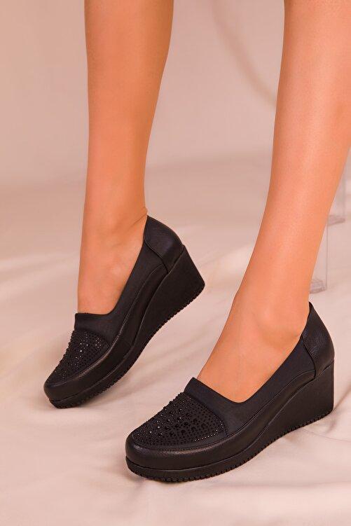 SOHO Siyah Kadın Dolgu Topuklu Ayakkabı 15979 1
