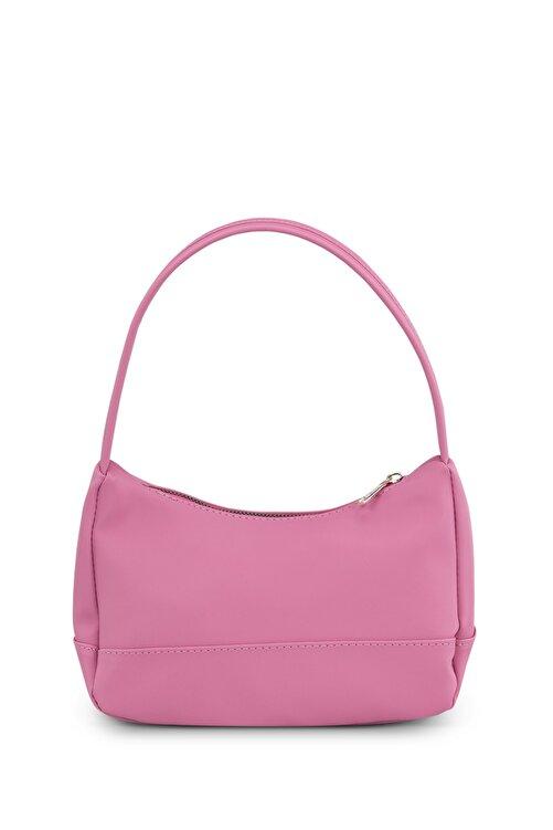 Housebags Kadın Pembe Baguette Çanta 197 2