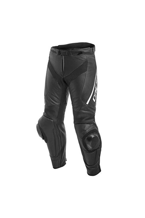 Dainese Delta 3 Deri Motosiklet Pantolonu Black Black White 1