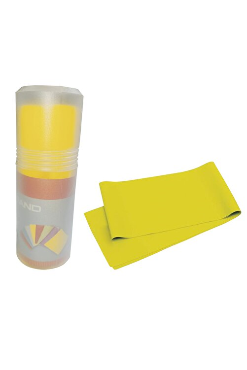 AVESSA Pilates Bandı Orta Sert 140 X 15 cm Egzersiz Direnç Lastiği Sarı 1