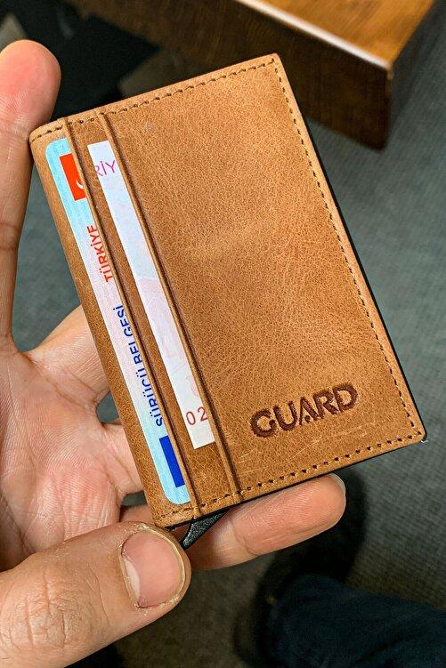 GUARD Unisex Taba Mekanizmalı Deri Kartlık 2