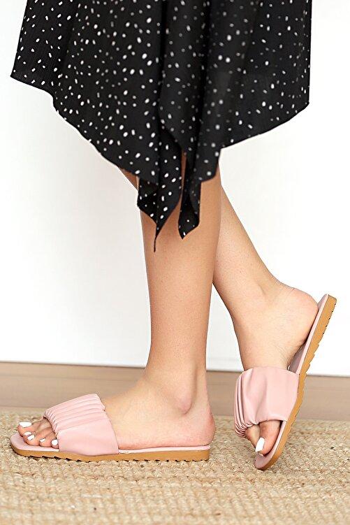Pembe Potin Kadın Pudra Sandalet 2