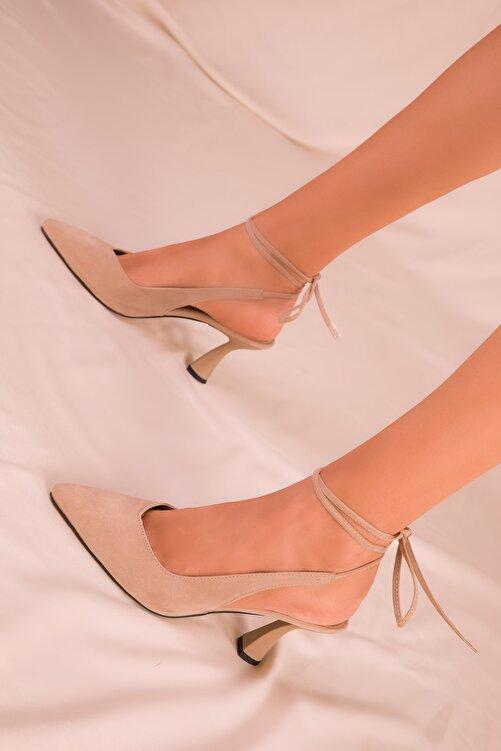 SOHO Ten Süet Kadın Klasik Topuklu Ayakkabı 15776 2