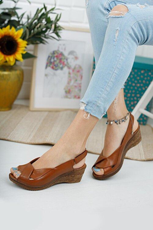 Diego Carlotti Hakiki Deri Kadın Dolgu Topuk Sandalet 1